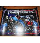 TRANSFORMERS Pinball Machine Game Translite Backbox Artwork
