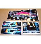 TWILIGHT ZONE Pinball Machine Game Cabinet Artwork 3 piece Decal Set for sale - NOS