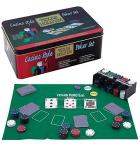 Texas Hold'em Casino Style Poker Game Chip Set 200 Piece with Poker Gaming Mat for sale