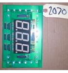 WINNER'S WHEEL REDEMPTION Arcade Game Machine PCB Printed Circuit DISPLAY Board #2070 for sale