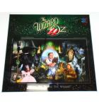 WIZARD OF OZ Pinball Machine Game BACKGLASS Artwork Graphic for sale - Signed by JERSEY JACK
