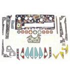 WORLD POKER TOUR Pinball Machine Game Complete Plastic Set by Stern #803-5000-88