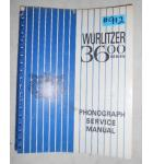 WURLITZER SERIES 3600 Jukebox SERVICE MANUAL #912 for sale