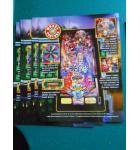 WHEEL OF FORTUNE Pinball Machine Game Original Sales Promotional Flyer