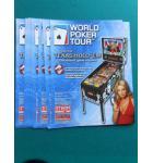 WORLD POKER TOUR Pinball Machine Game Original Sales Promotional Flyer