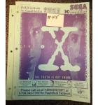 X FILES Pinball Machine Game Owner's Manual #415 for sale