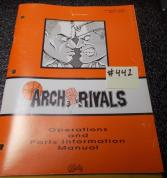 ARCH RIVALS Arcade Machine Game Operations and Parts Information Manual #442 for sale - BALLY