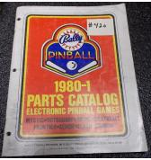 BALLY Pinball Machine Game 1980-1 Parts Catalog #420 for sale