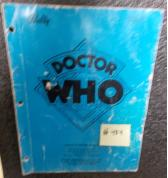 DOCTOR WHO Pinball Machine Game Operations Manual #484 for sale - BALLY