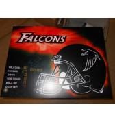 NFL FALCONS Pinball Machine Game Translite Backbox Artwork
