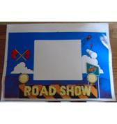 RED & TED'S ROAD SHOW Pinball Machine Game Coin Door Decal for sale