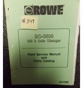 ROWE BC-3500 Bill & Coin Changer FIELD SERVICE MANUAL and PARTS CATALOG #549 for sale