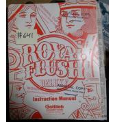ROYAL FLUSH DELUXE Pinball Machine Game Instruction Manual #641 for sale - GOTTLIEB