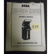 SHOOTING MASTER Arcade Machine Game OWNER'S MANUAL #818 for sale