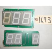 SMOKIN TOKEN Redemption Arcade Machine Game PCB Printed Circuit DISPLAY Boards #1693 - Lot of 2 for sale