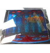 "STAR TREK 25th ANNIVERSARY Pinball Machine Game TRANSPORTER 3D HOLOGRAM ""BACKBOX ANIMATION"" 4 piece Hologram Film Set for sale"