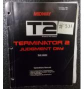 TERMINATOR 2 JUDGEMENT DAY Pinball Machine Game Operations Manual #531 for sale