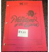 THE PHANTOM OF THE OPERA Pinball Machine Game Owner's Manual #426 for sale - DATA EAST