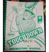 TOUCHDOWN Pinball Machine Game Instruction Manual #672 for sale - GOTTLIEB