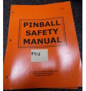 WILLIAMS Pinball Machine Game Safety Manual #416 for sale