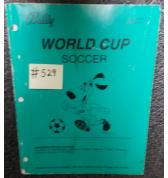 WORLD CUP SOCCER Pinball Machine Game Operations Manual #529 for sale