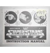 WWF SUPER STARS Arcade Machine Game Instruction Manual #707 for sale