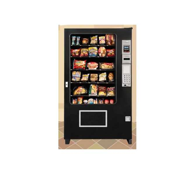 AMS Automated Merchandising Systems Epoch Series Glass Front Deli Snack Glass Front Vending Machine