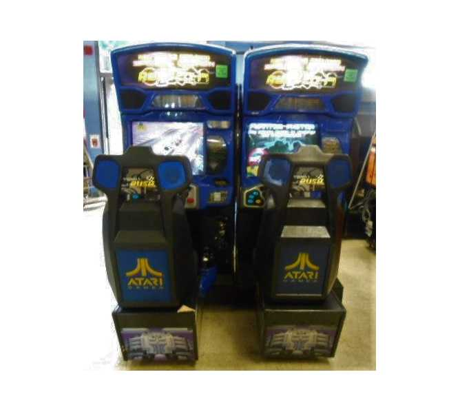 ATARI SAN FRANCISCO RUSH 2049 SPECIAL EDITION PAIR of Sit-Down Arcade Machine Games