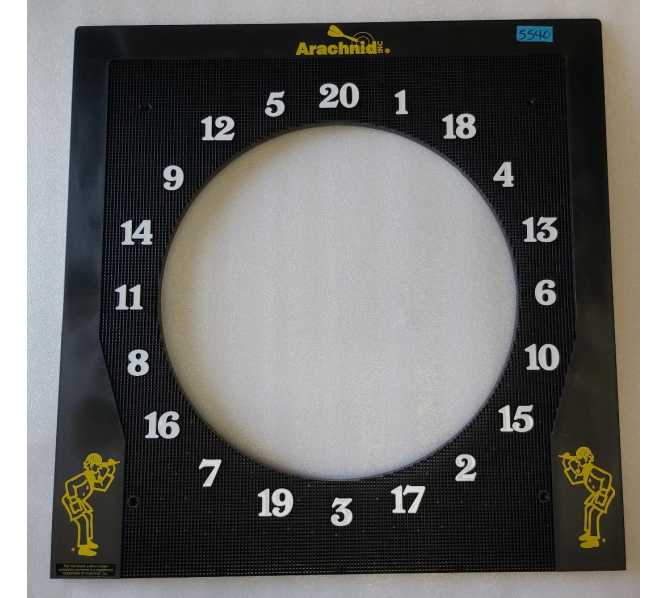 Arachnid Arcade Machine Game 6000 Series Dartboard Panel #134 (5540)