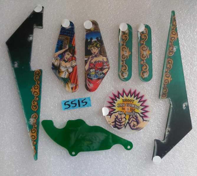 BALLY CHAMPION PUB Pinball Machine Game 8 pc. Partial Plastic Set #5515 for sale
