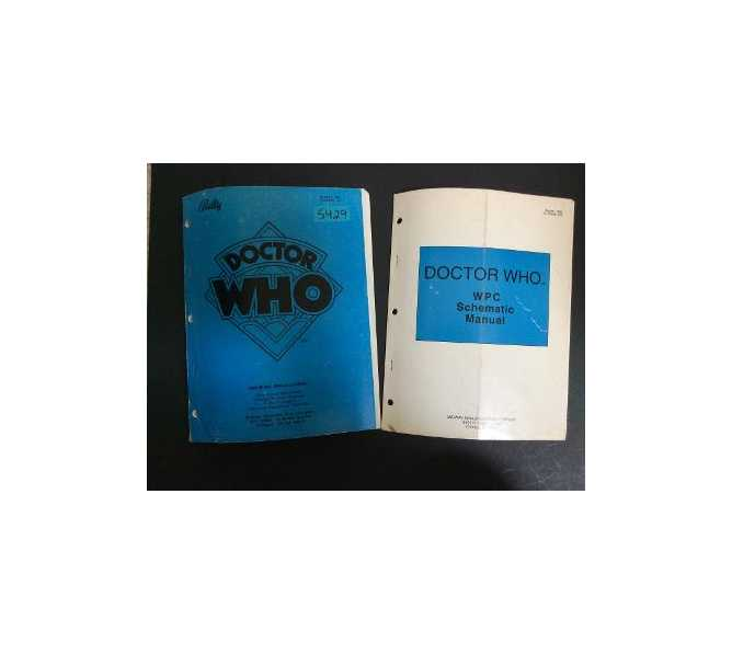 BALLY DOCTOR WHO Pinball Machine OPERATIONS MANUAL & SCHEMATIC MANUAL SET #5429