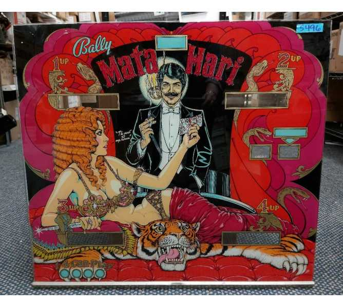 BALLY MATA HARI Pinball Machine Game Backglass Backbox Artwork - #5496 for sale