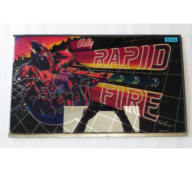 BALLY RAPID FIRE Arcade Machine Game GLASS Marquee Bezel Artwork Graphic #5512 for sale
