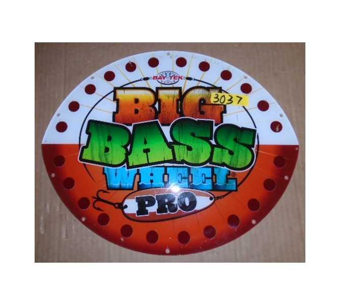 BIG BASS WHEEL PRO Redemption Arcade Machine Game Overhead Header PLEXIGLASS #3037 for sale
