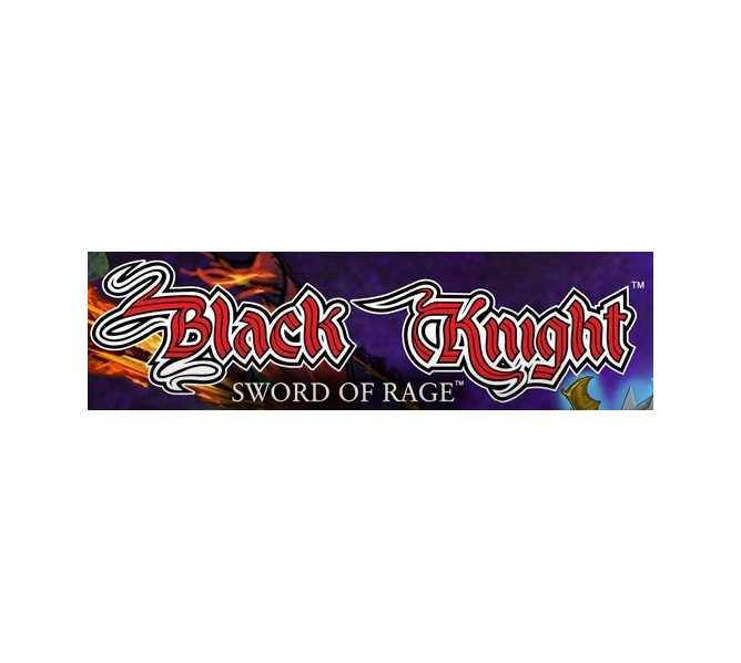 STERN BLACK KNIGHT SWORD OF RAGE Pinball Machine Game Complete Plastic Set - #803-5000-N1 for sale