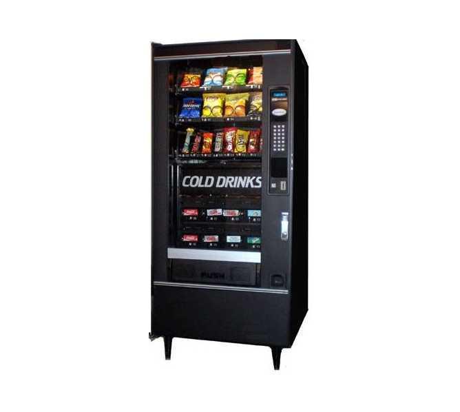 CRANE 484 Refreshment Center 2 COMBO Snack & Soda Vending Machine for sale