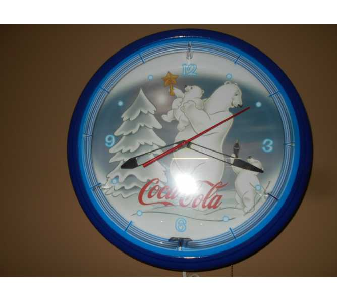Coca Cola Polar Bears Collection Neon Clock - Official Licensed Product for sale - Sweeping second hand