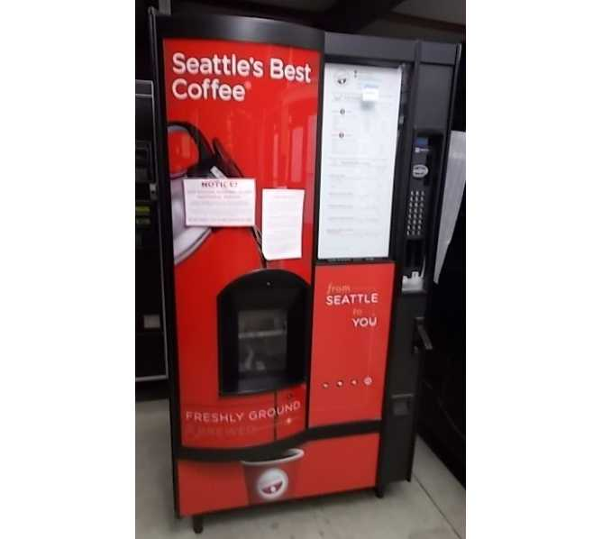 Crane National Vendors 677, Seattle's Best Hot Drink Center Hot Beverage Vending Machine for sale