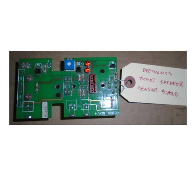 DELTRONICS TICKET SHREDDER Redemption Arcade Machine PCB Printed Circuit SENSOR Board #3175 for sale