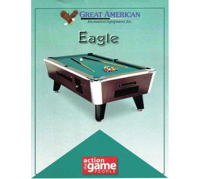 EAGLE 7' Pool Table NON COIN-OPERATED for HOME USE for sale