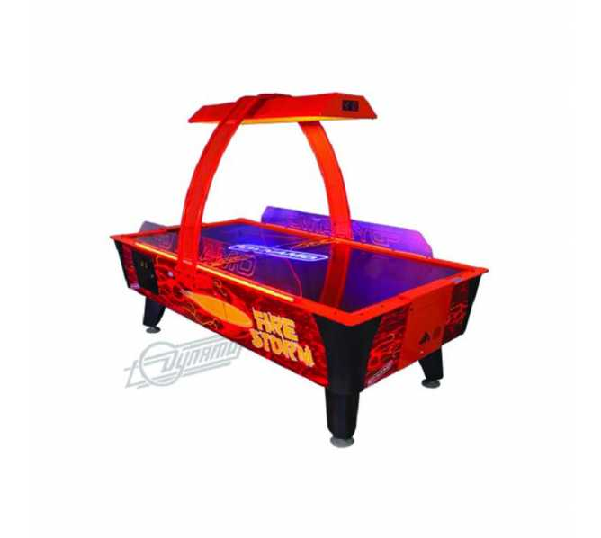 FIRE STORM AIR HOCKEY Table by Valley Dynamo with OVERHEAD SCORING