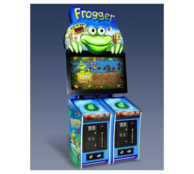 FROGGER 1/2 Player Ticket Redemption Arcade Machine Game by ICE - LIGHT USE