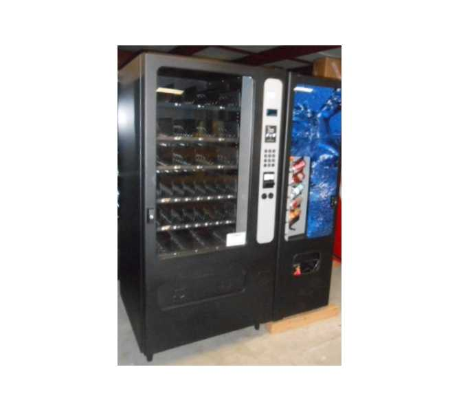 Fawn FSI Federal Selectiv U-Select-I Corp USI Wittern 2 Machine Combo Package - 3504, HR32 GI Snack & 3505, CB300 Cold Drink/Beverage (Satellite/Slave) Glass Front Vending Machines for sale