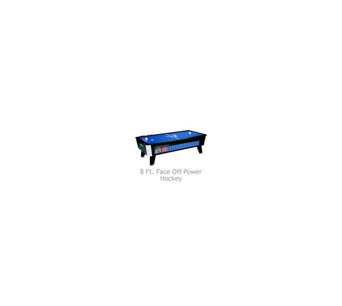 GREAT AMERICAN FACE OFF 8' Air Hockey Home Table without Electronic Scoring - NEW