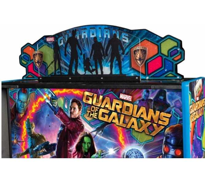GUARDIANS OF THE GALAXY Pinball Machine Game CUSTOMIZED TOPPER #502-7050-00