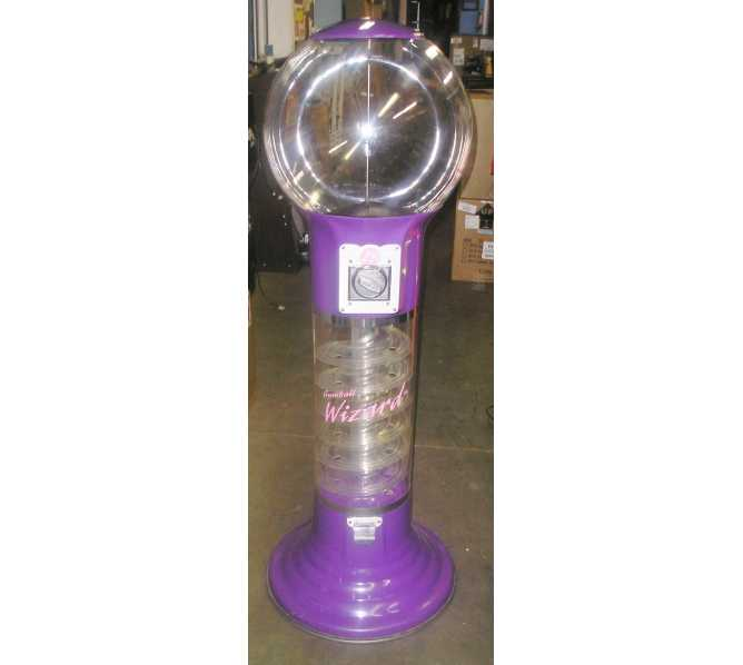 """GUMBALL WIZARD SPIRAL GUMBALL MACHINE 58"""" TALL for sale"""