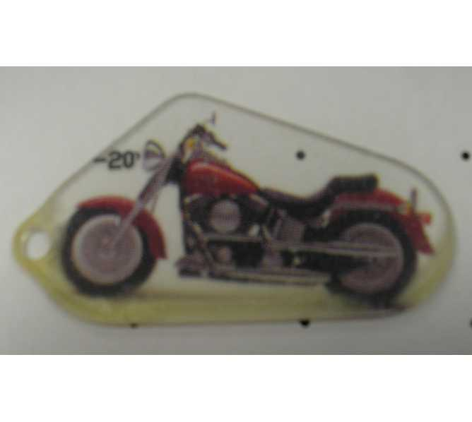 HARLEY DAVIDSON Original Pinball Machine Promotional Key Fob Keychain Plastic - Stern