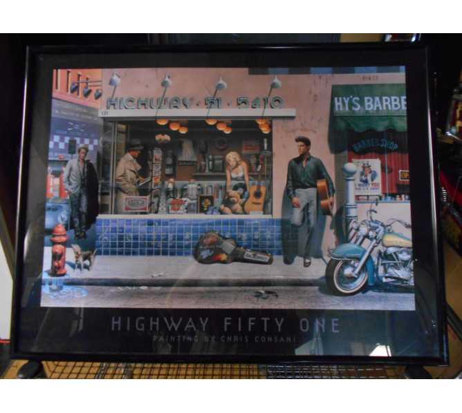 Highway Fifty One Art Print by Chris Consani for sale - Movie Fantasy - Marilyn Monroe, Humphrey Bogart, James Dean, Elvis for sale