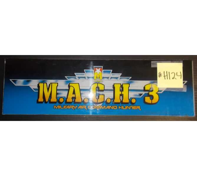 M.A.C.H. 3 MILITARY COMMAND HUNTER Arcade Machine Game Overhead Marquee Header for sale #H124 by MYLSTAR
