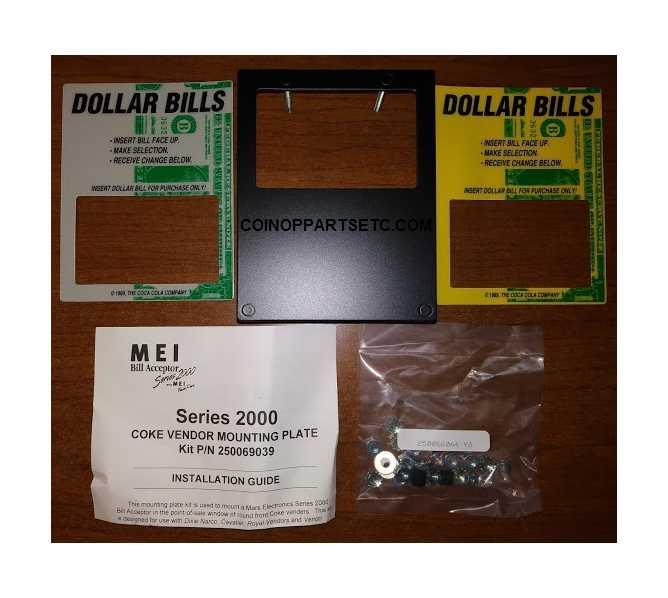 MARS Mei Bill Acceptor Series 2000 COKE VENDOR MOUNTING PLATE Kit #250069039 for sale - NEW